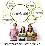 innovation success ideas...   Shutterstock . vector #594670175