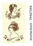 illustration with portraits of... | Shutterstock .eps vector #59467396