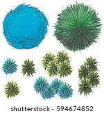 set of hand drawn marker trees  ...   Shutterstock .eps vector #594674852