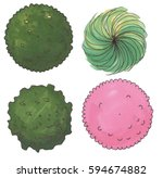 set of hand drawn marker trees  ...   Shutterstock .eps vector #594674882