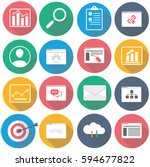 set of seo icons. made in... | Shutterstock .eps vector #594677822