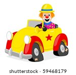 illustration of a clown driving ... | Shutterstock .eps vector #59468179