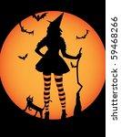 halloween witch   Shutterstock .eps vector #59468266