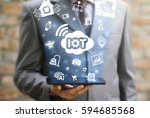 internet of things  iot  cloud... | Shutterstock . vector #594685568