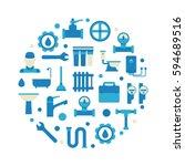 plumbing repair and service... | Shutterstock .eps vector #594689516