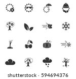 seasons web icons for user... | Shutterstock .eps vector #594694376