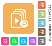 find playlist item flat icons... | Shutterstock .eps vector #594697382
