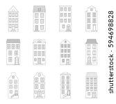 set of houses  vector... | Shutterstock .eps vector #594698828