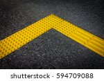 braille block  tactile paving... | Shutterstock . vector #594709088