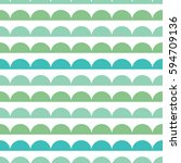 vector green blue scallops...   Shutterstock .eps vector #594709136