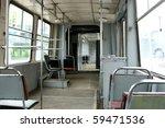 empty tram interior | Shutterstock . vector #59471536