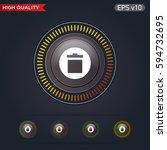 delete icon. button with delete ...   Shutterstock .eps vector #594732695