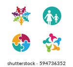 adoption and community care... | Shutterstock .eps vector #594736352