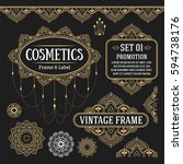 set of retro vintage graphic... | Shutterstock .eps vector #594738176