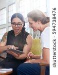 modern asian business woman...   Shutterstock . vector #594738476