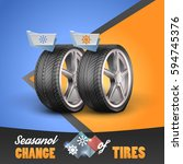 replacement tires for the... | Shutterstock .eps vector #594745376