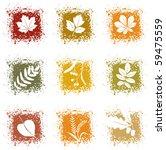 Set Autumn Leaves Icons