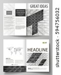business templates for bi fold...   Shutterstock .eps vector #594756032