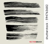 wide brush collection grunge... | Shutterstock .eps vector #594763682