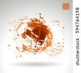 brush stroke and texture.... | Shutterstock .eps vector #594764198