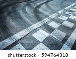 finish and start pattern line... | Shutterstock . vector #594764318