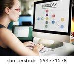 process business graph...   Shutterstock . vector #594771578