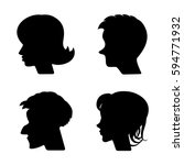 woman and man vector profiles... | Shutterstock .eps vector #594771932