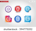 two points icon. button with... | Shutterstock .eps vector #594775352