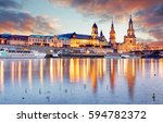 dresden  germany old town... | Shutterstock . vector #594782372