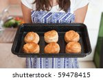 Women Holding Tray With...