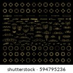 gold vintage decor elements and ... | Shutterstock .eps vector #594795236