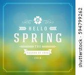 spring vector typographic... | Shutterstock .eps vector #594799262