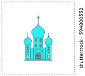church outline vector icon with ...