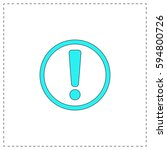 exclamation outline vector icon ...