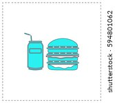 fast food outline vector icon...