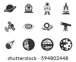 space vector icons for user... | Shutterstock .eps vector #594802448