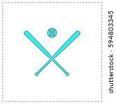 baseball outline vector icon...