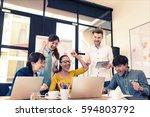 multi ethnic business person... | Shutterstock . vector #594803792