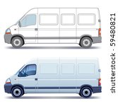 white commercial vehicle  ... | Shutterstock .eps vector #59480821