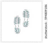 imprints outline vector icon...