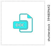 doc outline vector icon with...