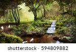 Fantasy Scenery With Pond ...