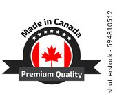 made in canada banner  flag red ... | Shutterstock .eps vector #594810512