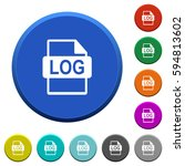 log file format round color... | Shutterstock .eps vector #594813602