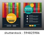 modern vector abstract brochure ... | Shutterstock .eps vector #594825986