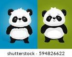 cute giant panda illustrations... | Shutterstock .eps vector #594826622
