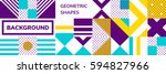 simple banner of decorative... | Shutterstock .eps vector #594827966