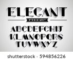 vector of stylized font and... | Shutterstock .eps vector #594856226