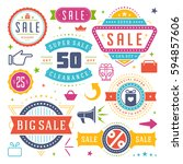 sale badges and tags design... | Shutterstock .eps vector #594857606
