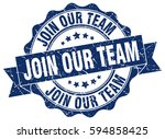 join our team. stamp. sticker.... | Shutterstock .eps vector #594858425